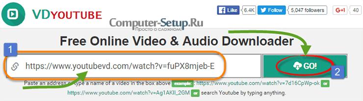 VdYoutube - загрузка видео с помощью добавления VD