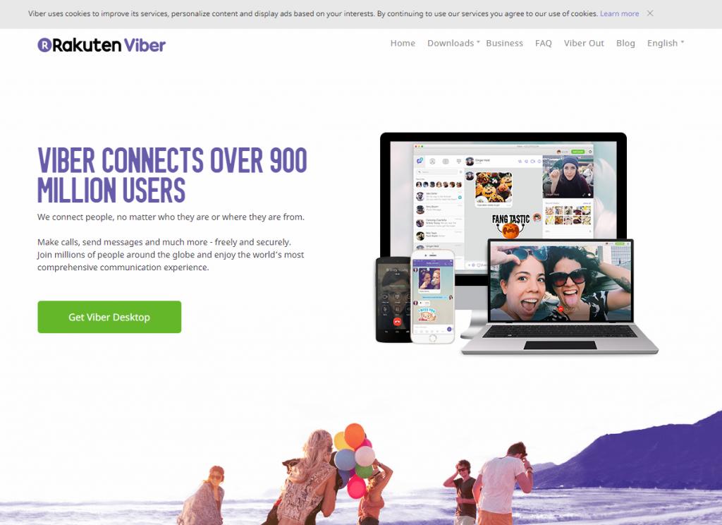 Официальный сайт «Viber»