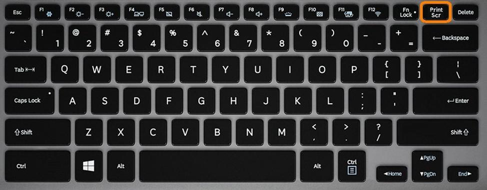 Расположение клавиши Print Screen на клавиатуре